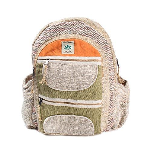 Maha Bodhi All Natural Handmade Multi Pocket Laptop Backpack - Himalayan Hemp