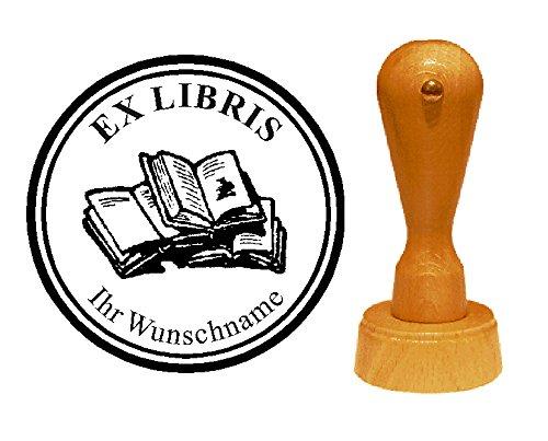Ex Libris Exlibris Stempel BÜCHER - mit persönlichem Namen und Motiv