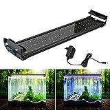 SolarNovo Lighting LED acuario de plantas de agua dulce accesorio IP64 cubierta LED cubierta abrazadera Clip de lámpara para acuario 30-136cm (Para acuario 50-70cm)