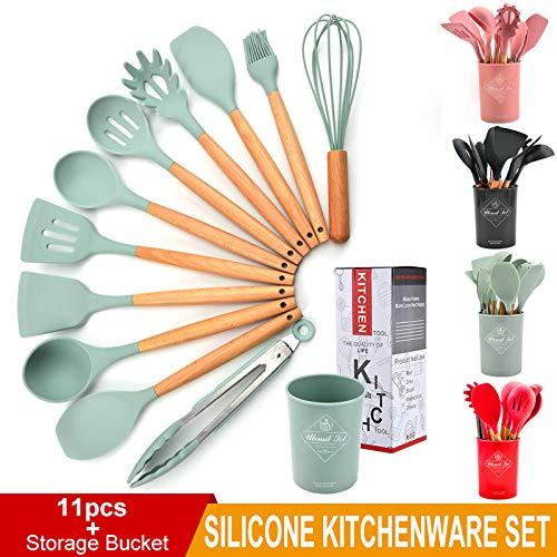Liford Silicone 12 Piece Kitchen Utensil Set - Pink