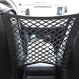 Universal Elastic Mesh Net trunk Bag - Car Mesh Organizer, car net pocket handbag holder, Seat Back Net Bag, Barrier of Backseat Pet Kids, Cargo Tissue Purse Holder, Driver Pouch Storage Organizer