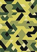 igsticker ポスター ウォールステッカー シール式ステッカー 飾り 1030×1456㎜ B0 写真 フォト 壁 インテリア おしゃれ 剥がせる wall sticker poster 011745 模様 緑 柄