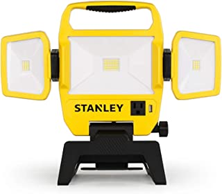 Stanley 5000-Lumen LED Work Light with Stand Provides Ample Lighting with its Long-lasting Integrated LED 4000K 50W Outdoor Lighting