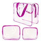Best Case Roybens - 3Pcs Clear Cosmetic Bag Air Travel Plastic Toiletry Review