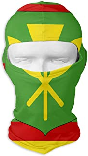 Kanaka Maoli Native Hawaiian Flag Unisex Outdoor Sunscreen Windproof Mask Neck Scarf Balaclava Headgear Hood Motorcycle Cycling Fishing Face Mask