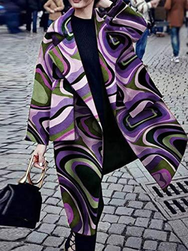 Płaszcz Damska wiatrówka, duże kieszenie, drukowana wiatrówka, długie casual streetwear, damski jesienny płaszcz, wiatrówka damska Damskie płaszcze Wuyuana (Color : 35, Size : X-Large)
