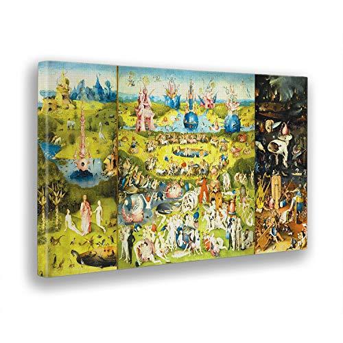 Giallobus - Schilderij - Hieronymus Bosch - De tuin van de lekkernijen - afdrukken op doek - klaar om op te hangen - Moderne schilderijen huisdecoratie ontwerp - Verschillende formaten - 100x60 cm