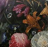 Textile London Italienischer Samt Blumenmuster Hortensien