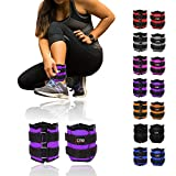 Xn8 Ankle Weights Adjustable Wrist Strap | 0.5kg-3kg Leg Weight Sets for Fitness-Jogging-Walking-Exercise-Gymnastics-Aerobics-Gym-Training