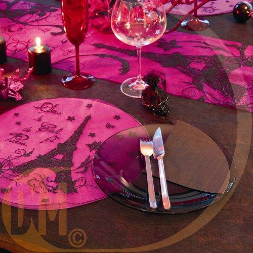 Discount Mariage - Set de table rond paris Fuchsia