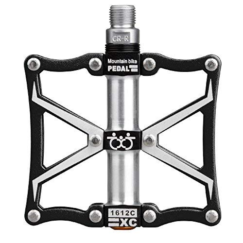 Smartdoors Lightweight Aluminum Alloy 9/16' Mountain Bike Pedals High-Strength Non-Slip Bicycle Pedals Surface for Road BMX MTB Fixie Bikes