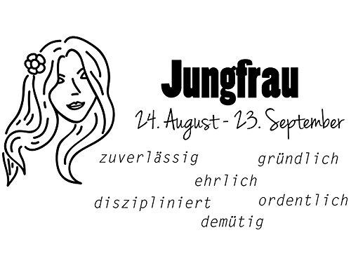 Wandtattoo-bilder® Sternzeichen Jungfrau Nr 2 Horoskop Sternbilder Wandsticker Wandaufkleber Wandbilder Farbe Braun, Größe 120x67