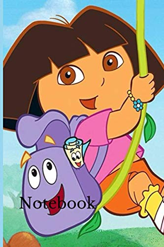 Notebook: Dora The Explorer: Dora notebook, dora and friends: Dora The Explorer: Dora notebook, dora notebook for kids, dora for boys and dora for ... lined, 150 pages, 6/9 inches, no bleed