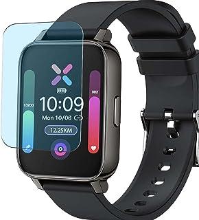 Vaxson 3-pack anti-blått ljus skärmskydd, kompatibel med Donerton P36 1,7 tum smartwatch smartklocka, TPU skyddsfilm skydd...