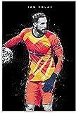 ZRRTTG Lienzo Pintura Al óLeo Balón de fútbol Jan Oblak para la decoración de la Sala de Estar Poster Y Estampados Arte Cuadros 23.6'x35.4'(60x90cm) Sin Marco