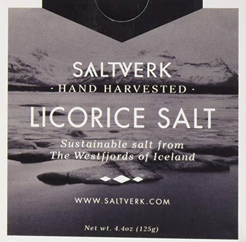 Saltverk Licorice Salt - Meersalzflocken mit Lakritze, 1er Pack (1 x 125 g)