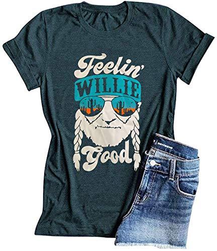 SLYZ Camiseta De Manga Corta Casual De Verano para Mujer Camiseta Estampada con Estampado De Moda para Mujer Superior