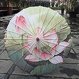 Damen Regenschirm aus Seide, japanische Kirschblüten aus Seide, antiker Tanz, dekorativer Regenschirm im chinesischen Stil, Öl-Papierschirm braun Dunkelbraun