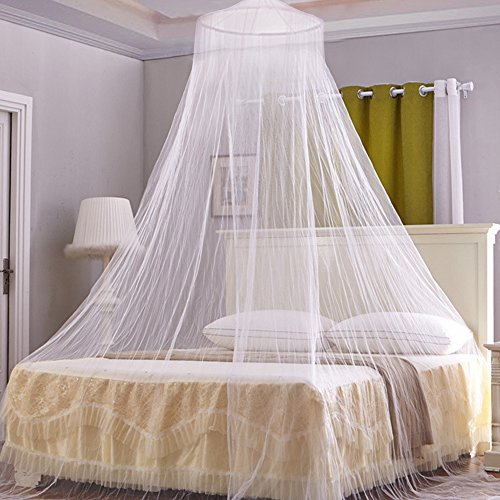 Bed Mosquito Net luifel Netting Gordijn Wit Grote koepel Vlieg Midges Insect Bescherming voor Indoor Outdoor Vakantie Reizen