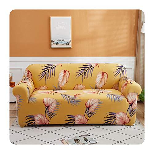 Funda de sofá flexible con diseño de flores pastorales, todo incluido, elástica, para sofá, toalla para decoración del hogar, 1/2/3/4, color 08-4 asientos, 235-300 cm