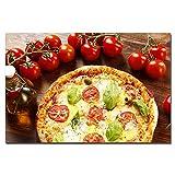 YIYAOFBH Leinwandbild Pizza Vegetables KitchenRestaurant