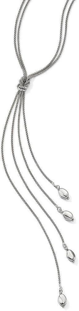 Leslie's Raleigh Mall Sterling Silver Polish Multi-strand Knot Ranking TOP13 Bead Dangle Ne