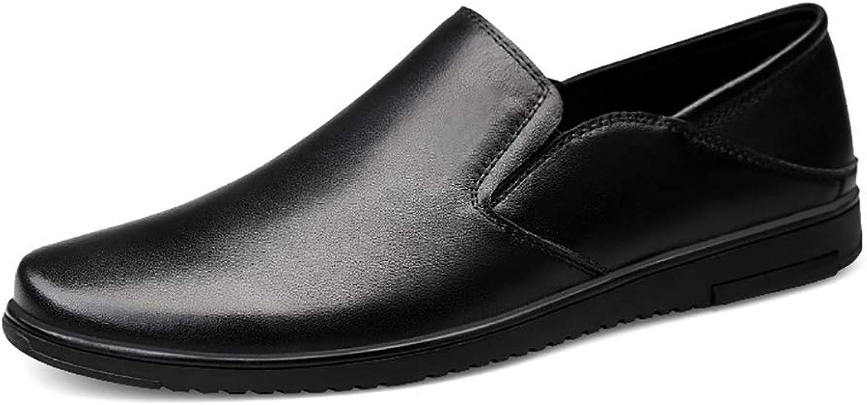 GPF-fei Herrenschuhe Loafers Schuhe Business Schuh Faustrot Schuhe Leder Runde Schuh Komfort-Mode Waterproof Leisure Leichtgewicht,40