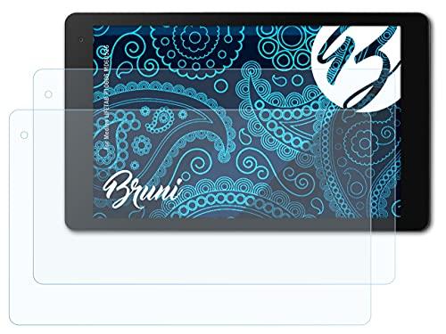 Bruni Schutzfolie kompatibel mit Medion LIFETAB P10606 MD60526 Folie, glasklare Bildschirmschutzfolie (2X)