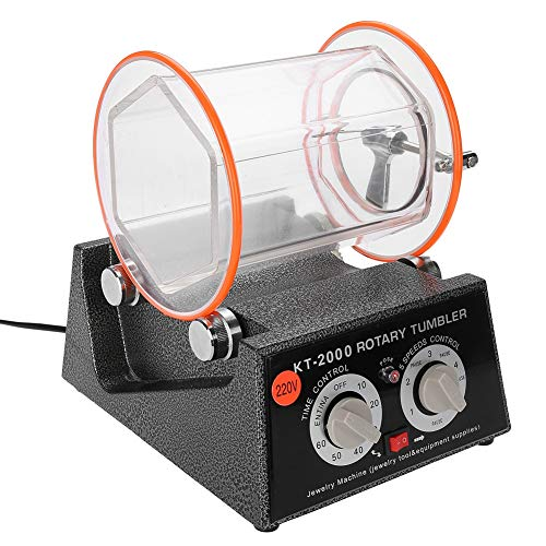 Sieraad polijstmachine Tumbler, 5 kg Rotary Tumbler sieraad polijstmachine 5 snelheidsregeling met timer sieraden polijstmachine