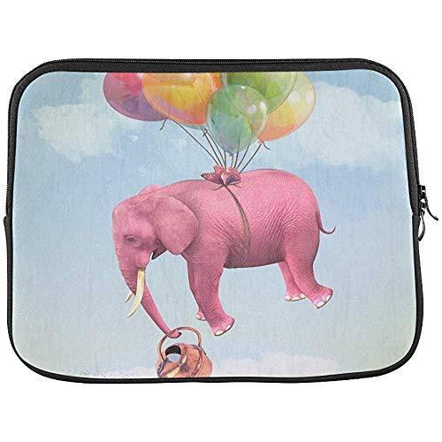 Olifant in de hemel met een gieter kan mouw zachte laptop tas tas tas