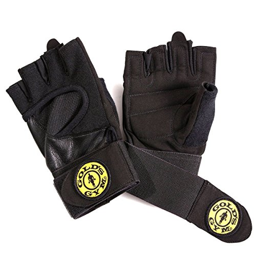 Gold's Gym Wrist Wrap Glove with Adjustable Strap (XS/S)