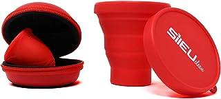 comprar comparacion Pack Sileu Travel: Copa menstrual Rose - Modelo de iniciación - Talla S, Rojo, Flexibilidad Standard + Estuche de Flor Roj...