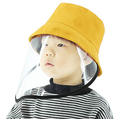 Kindermutsbeschermingsmasker winddicht stofdicht anti-spray volgelaatsbescherming afneembaar transparant masker