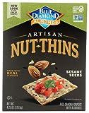 Blue Diamond Artisan Nut Thins Sesame Seeds Gluten Free -- 4.25 oz Each / Pack of 2