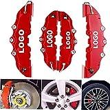 Couvercles de l'étrier 2PCS / 4pcs voiture de frein à disque Cache Etrier de frein rouge couverture Ajuster à 14-18 pouces voiture 2 M et 2 S Kit universel for Brembo (Color : 2 pcs S and 2 pcs M)