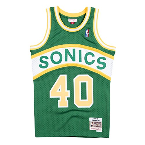 Mitchell & Ness Shawn Kemp 1994-95 Seattle Supersonics Road Swingman Jersey Men