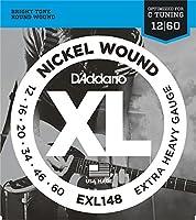 D'Addario EXL148 Extra Heavy エレキギター弦×3セット