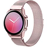 Band4u 22mm Quick Release Metal Watch Bands Compatible for Samsung Galaxy Watch 46mm/Samsung Galaxy Watch 3 45mm/Gear S3 Frontier/Classic,Sport Strap Wristband Replacement Bracelet for Women Men