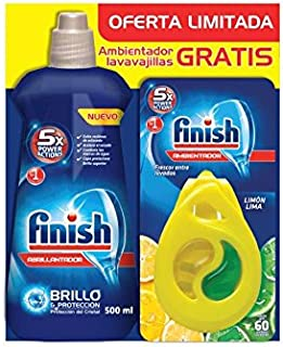 comprar comparacion Finish Lavavajillas Abrillantador Regular, más Ambientador para lavavajillas Limón