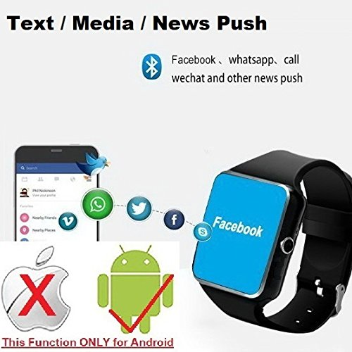 CNPGD Bluetooth Smart Watch(Partial Compatible for iPhone)+(Full Compatible for Android Phone) +Unlocked Watch Cell Phone+Fitness Tracker Camera Pedometer for Kids, Men and Women(Black)