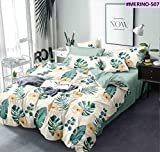 Livmoda 350TC Microfiber Glace Cotton King Size Double Bed AC Comforter with 90x100