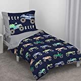trucks toddler bed - Carter's Monster Truck 4 Piece Toddler Bed Set, Navy and Grey