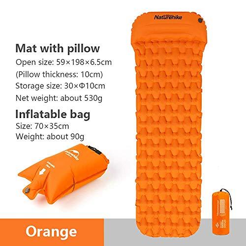 Naturehike TPU aufblasbare Matte Camping Bettwäsche Schlafkissen Outdoor Wandern Einzelzelt Luftmatratze mit Kissen Ultraleicht Feuchtigkeitsbeständige Kissen Airbag NH19Z012-P