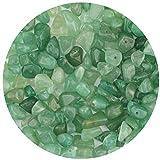 LUTER Cuentas de Piedra de Viruta Natural de Aproximadamente 500 Piezas Cuentas de Piedras Preciosas Irregulares Agujero Perforado para Joyería de Bricolaje Collar Pulsera Pendiente (Aventurina Verde)