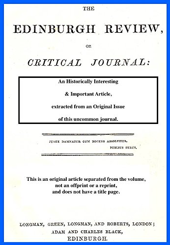 Utilitarian theory of government, and the 'greatest happiness principle'. A rare original article from the Edinburgh Review, 1829.
