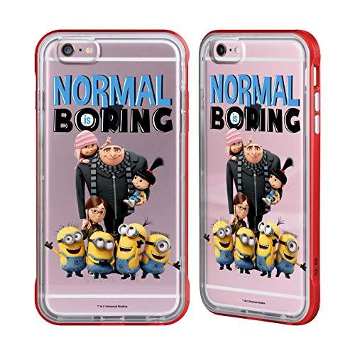 Ufficiale Despicable Me Minions La Famiglia di Gru Cover Fender Rossa Compatibile con Apple iPhone 6 Plus/iPhone 6s Plus