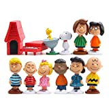 LW 12 pcs Lovely Animal Characters Toys Mini Figure Collection Playset, Cake Topper,...