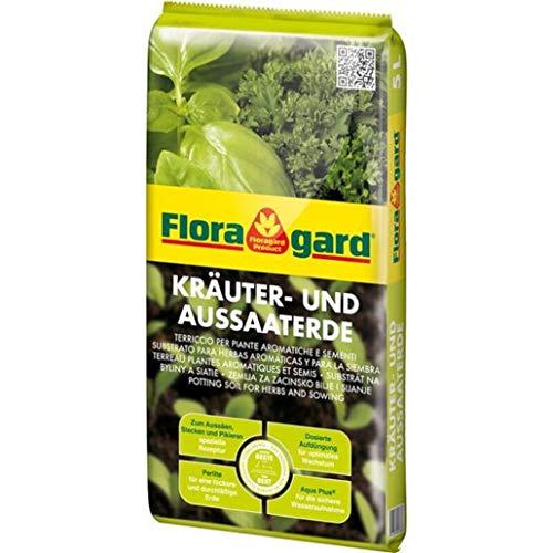 Floragard Kräuter und Aussaaterde 5l, zur Aussaat und Vermehrungen von Stecklingen