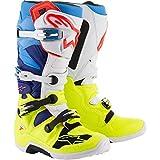 Alpinestars Men's Tech 7 Motocross Boot, Yellow/White/Blue/Cyan, 16