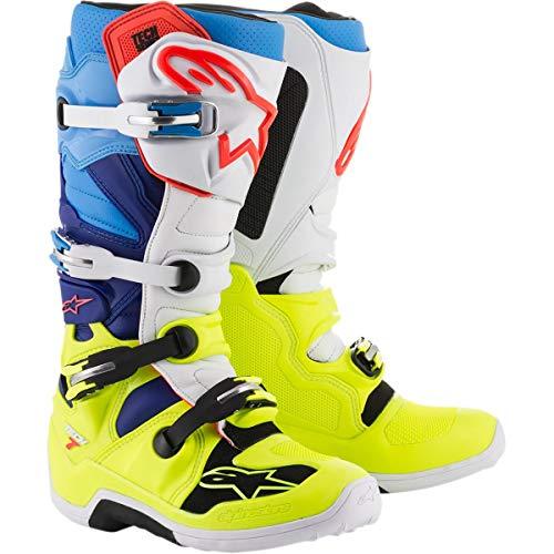 Alpinestars Tech 7 Stiefel 12 gelb/weiß/blau